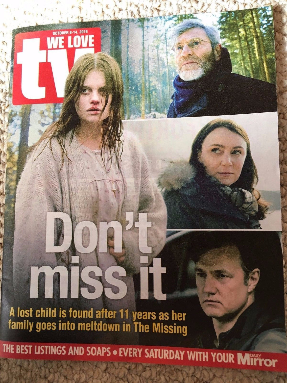 WE LOVE TV Magazine 10/2016 KEELEY HAWES David Morrissey Photo Cover Interview