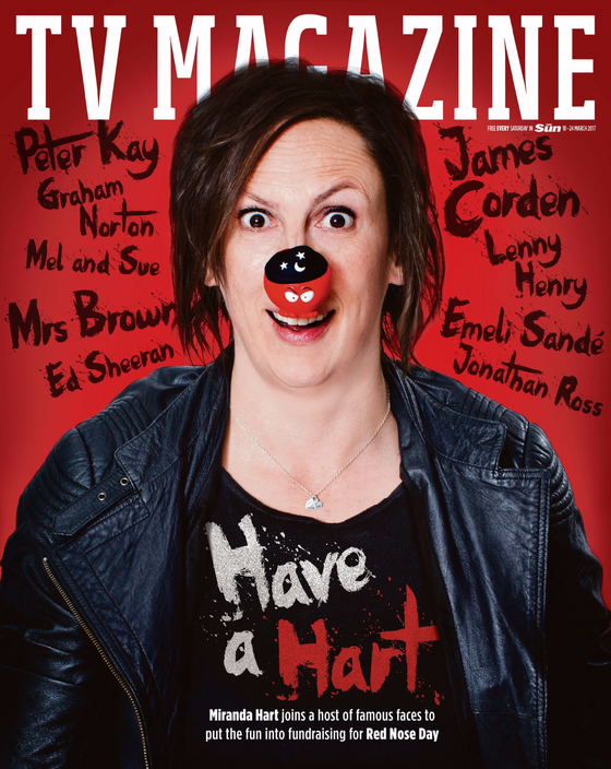 UK Sun TV Magazine March 2017 Miranda Hart Photo Cover Interview Emeli Sande