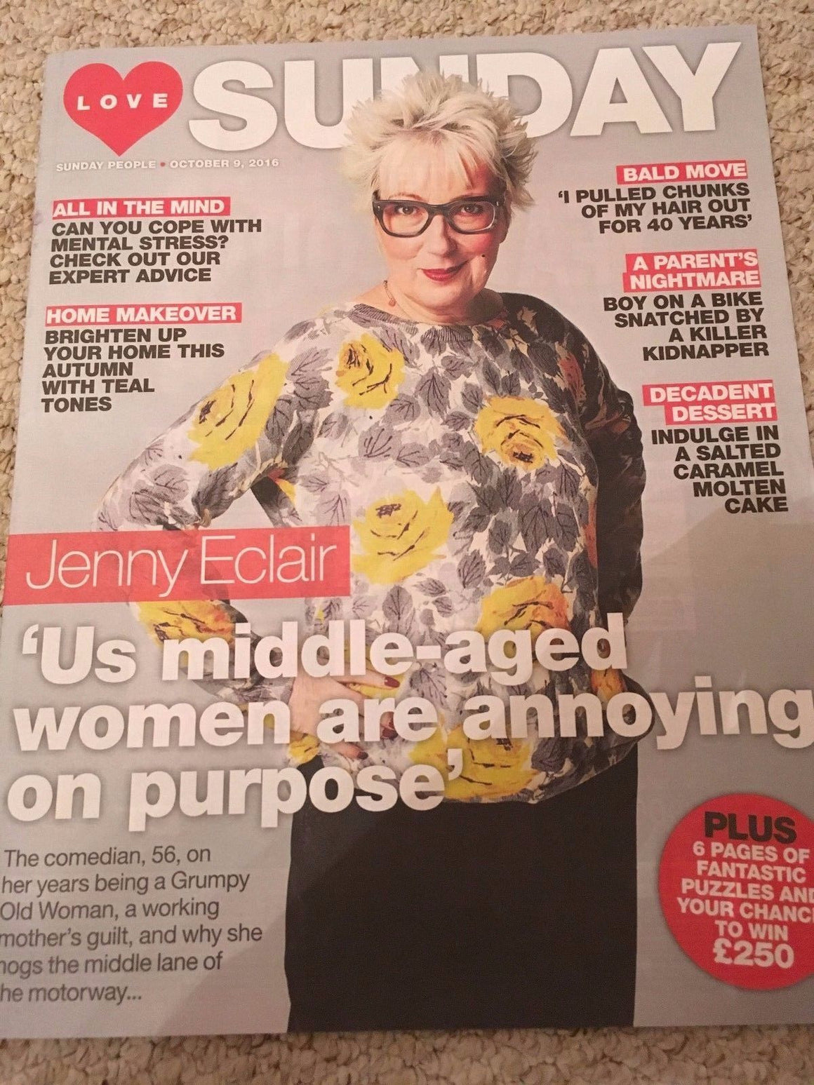 Products Page 75 Yourcelebritymagazines Catriona Agatha Top Handle Bag Brown Love Sunday Magazine October 2016 Jenny Eclair Photo Cover Interview