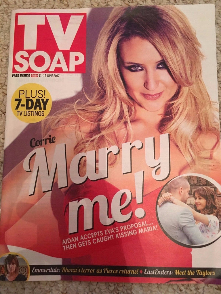TV Soap Magazine 11 June 2017 Catherine Tyldesley Jonathan Wrather Danny Walters