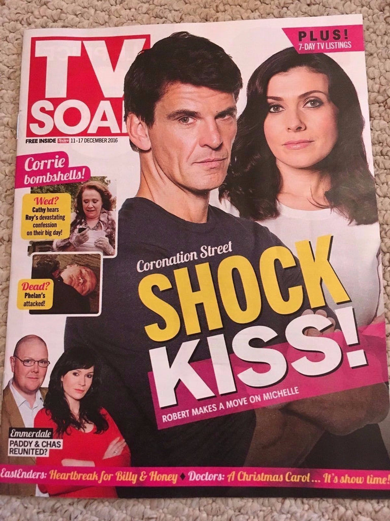TV SOAP MAGAZINE DECEMBER 2016 KYM MARSH DEBBIE RUSH DOMINIC BRUNT