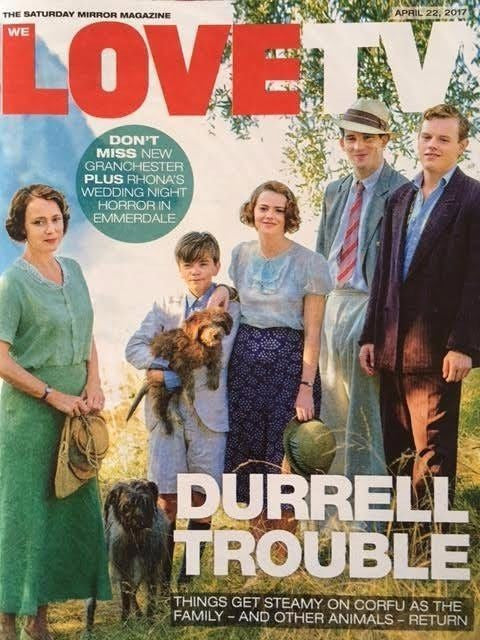 WE LOVE TV Magazine Apr 2017 The Durrells Keeley Hawes Robson Green James Norton