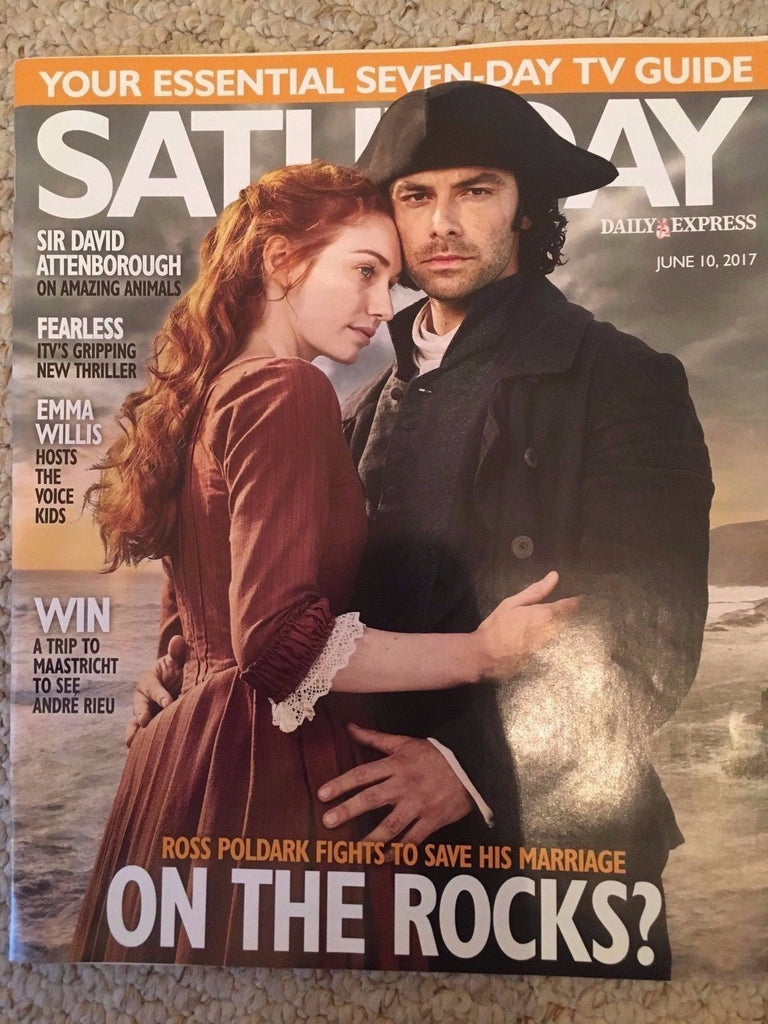 SATURDAY Magazine 06/2017 AIDAN TURNER Poldark Kim Hartman FIONA WADE Brian May