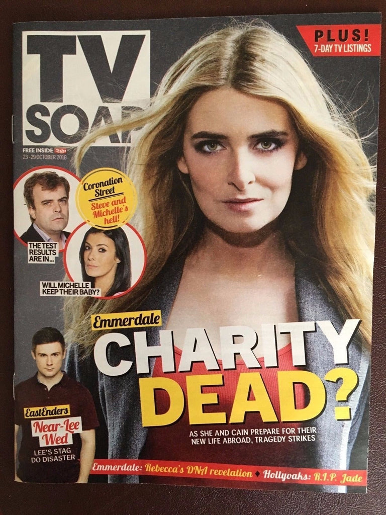 TV SOAP Magazine October 2016 Emmerdale EMMA ATKINS Mikey North Jeff Hordley