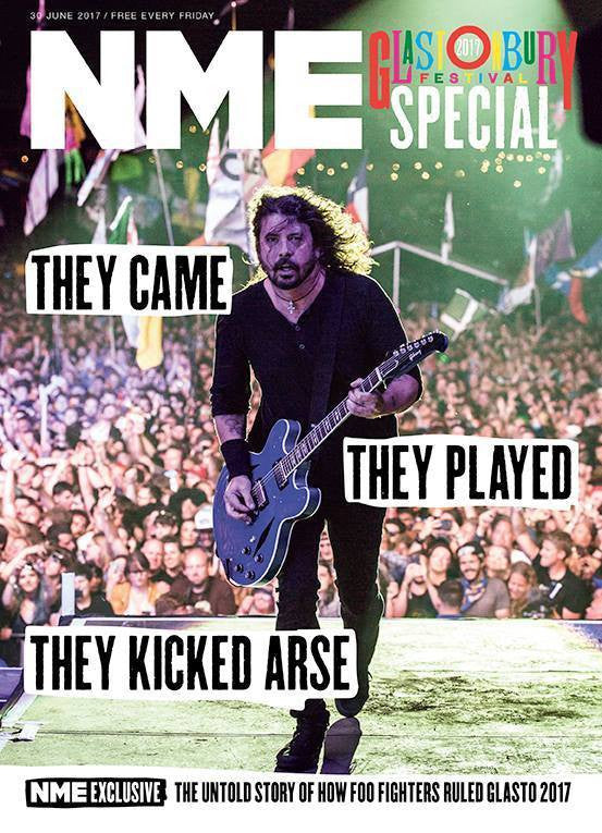 Dave Grohl on the cover of NME Magazine June 2017