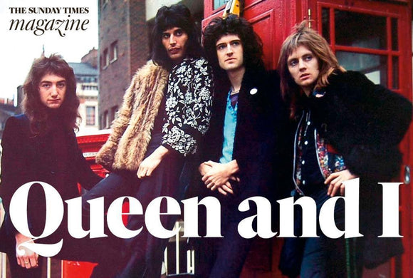 BRIAN MAY - Freddie Mercury Queen Interview Sunday Times UK magazine 21 May 2017