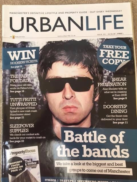 Urban Life Magazine 2008 - Noel Gallagher Photo Cover - Battle of the Bands