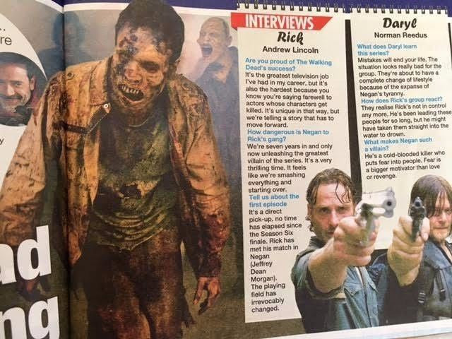 WE LOVE TV Magazine 10/2016 NORMAN REEDUS Andrew Lincoln PETER CAPALDI Kym Marsh