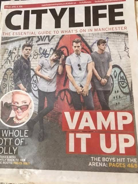 The Vamps City Life Cover Promo City Life Supplement April 2016 Chris Hemsworth