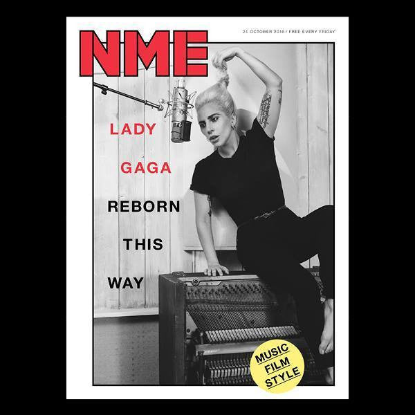 LADY GAGA Photo Cover NME UK Cover Magazine - Exclusive Interview