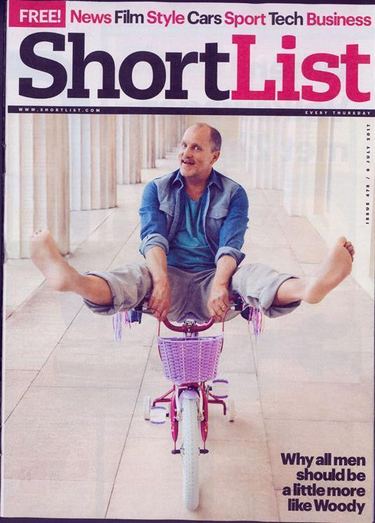 UK Shortlist magazine July 2017 Woody Harrelson Gary Numan Jack Savoretti