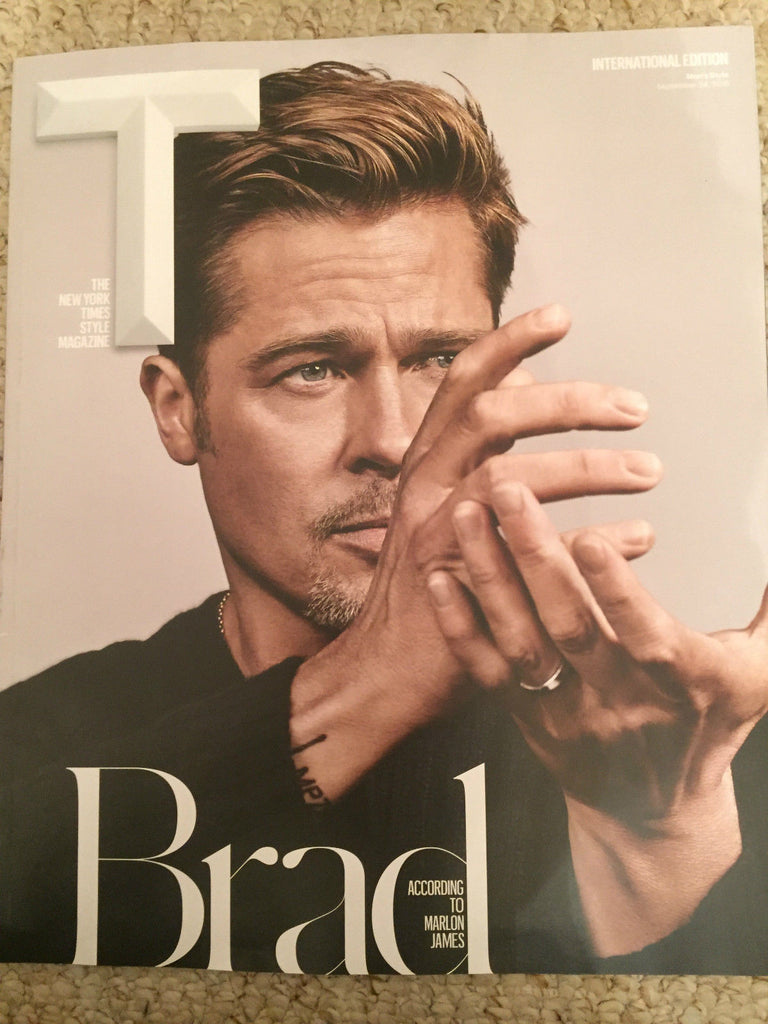 NY TIMES Magazine September 2016 BRAD PITT PHOTO COVER BY MARLON JAMES