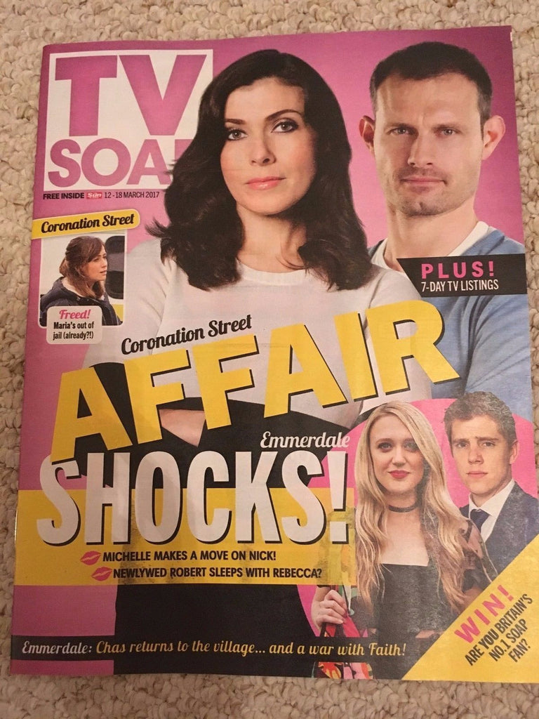 UK TV Soap Magazine March 2017 Danny Miller & Ryan Hawley - Shocks!