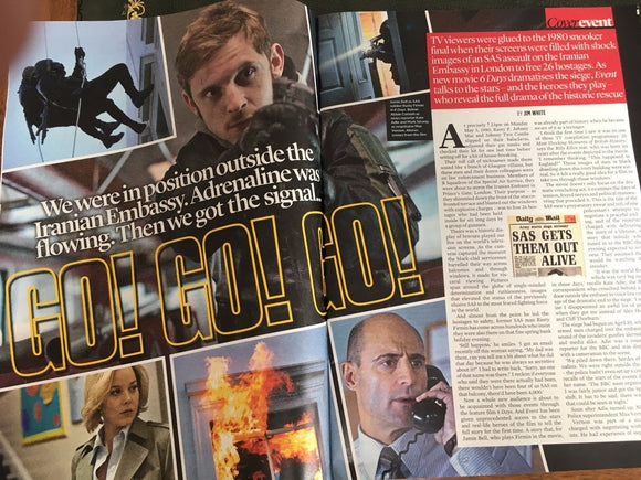 UK Event magazine 9 July 2017 6 Days Jamie Bell Mark Strong Clemency Burton-Hill