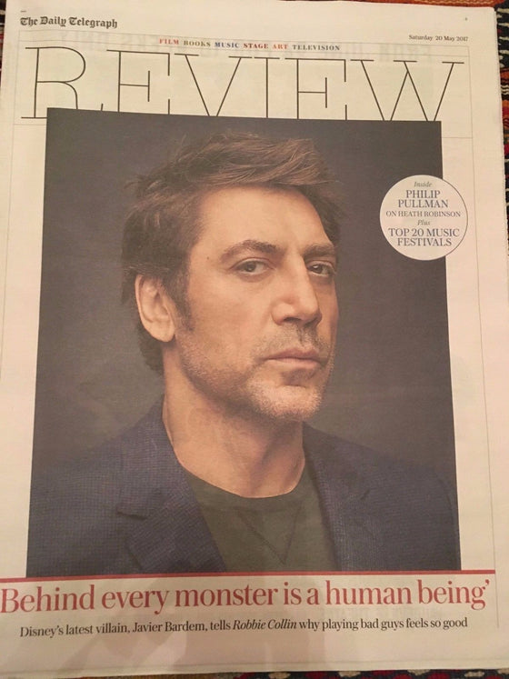 Telegraph Review May 20 2017 Javier Bardem Philip Pullman Heath Robinson Beatles
