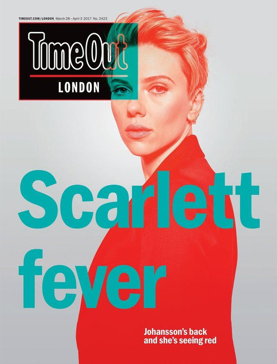 Time Out Magazine March 2017 Scarlett Johansson Ghost in the Shell Photo Cover