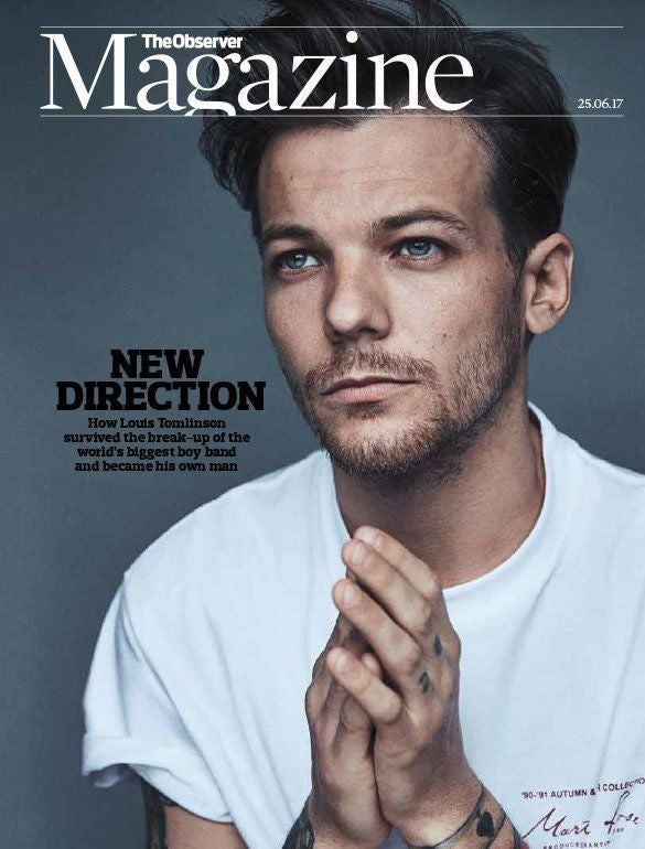 LOUIS TOMLINSON - Exclusive Interview The Observer UK magazine 25th June 2017