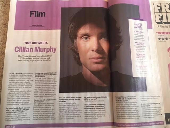 UK Time Out Magazine 28 March 2017 Cillian Murphy Andrew Scott Photo Interview