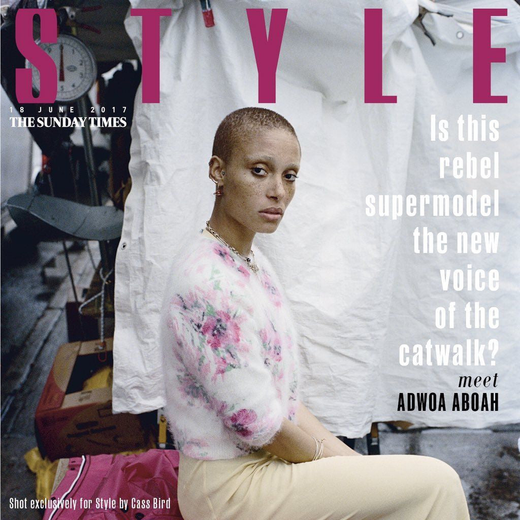 ADWOA ABOAH Photo Cover UK interview Style Magazine June 2017