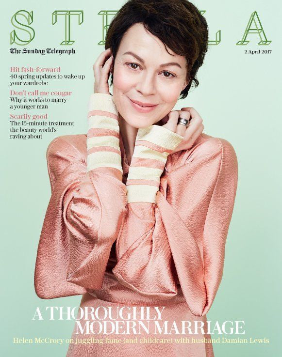 Helen McCrory on Damian Lewis Photo Cover UK interview Stella Magazine Apr 2017