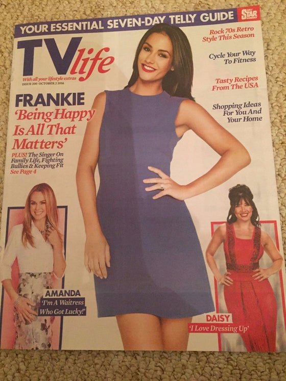 TV Life Magazine 09/2016 FRANKIE BRIDGE Amanda Holden MICHAEL BUBLE Daisy Lowe