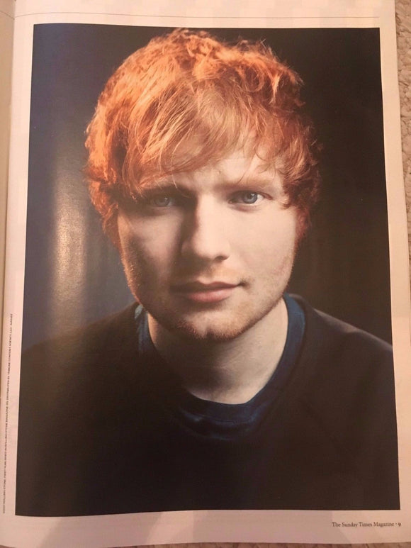ED SHEERAN - Cover Interview The Sunday Times UK magazine 25th June 2017
