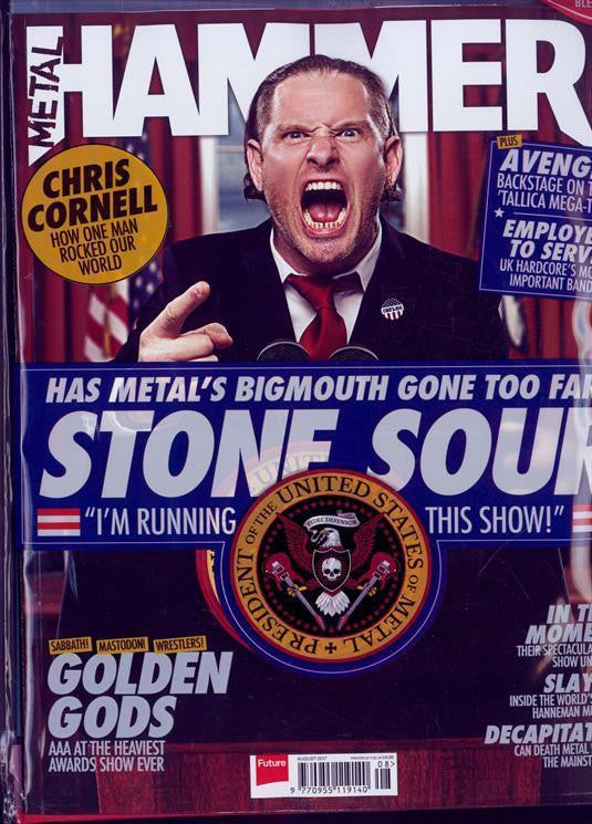 METAL HAMMER #298 magazine August 2017 Stone Sour Iron Maiden Chris Cornell