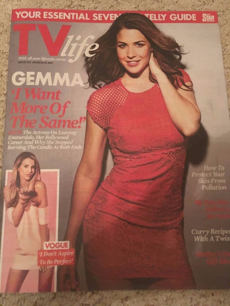TV LIFE MAGAZINE 2017 GEMMA ATKINSON Jo-Anne Knowles PAUL SCULFOR Vogue Williams