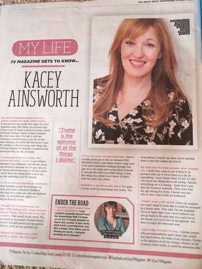 SUN TV Magazine 01/2017 KACEY AINSWORTH PHOTO INTERVIEW DANNY MILLER