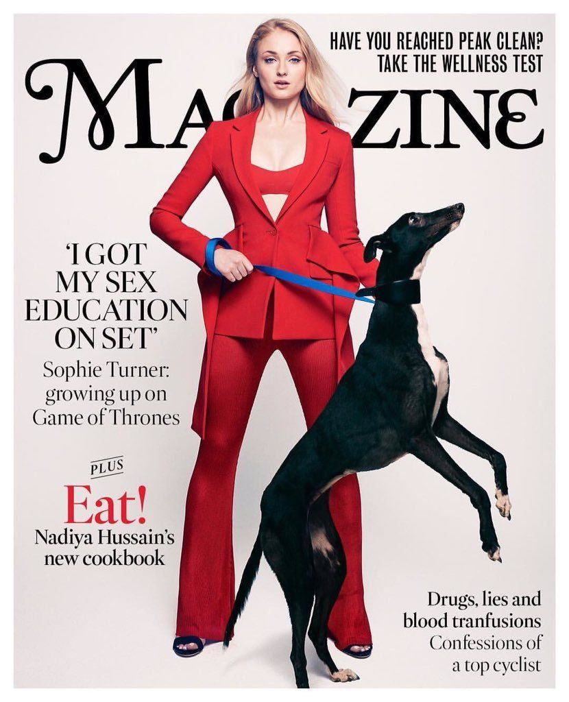 SOPHIE TURNER Exclusive - Cover Story Times UK magazine 1st July 2017