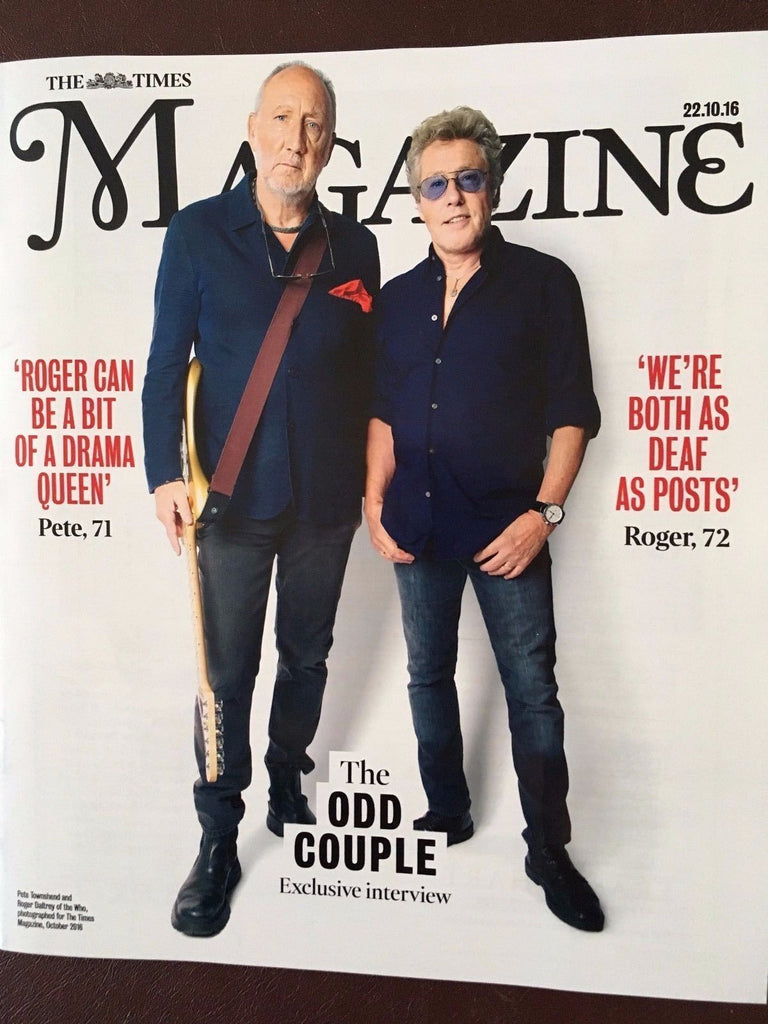 THE WHO exclusive interview ROGER DALTREY PETE TOWNSHEND UK PHOTO COVER 2016