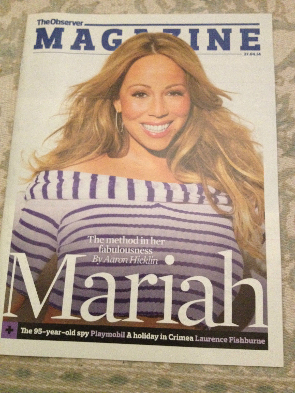 UK Mariah Carey Observer Magazine Cover April 2014 The Art Of Letting Go Promo