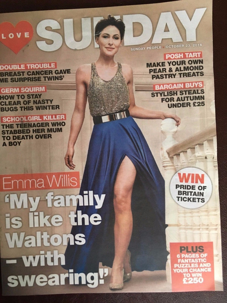 LOVE Sunday Magazine October 2016 EMMA WILLIS PHOTO COVER INTERVIEW