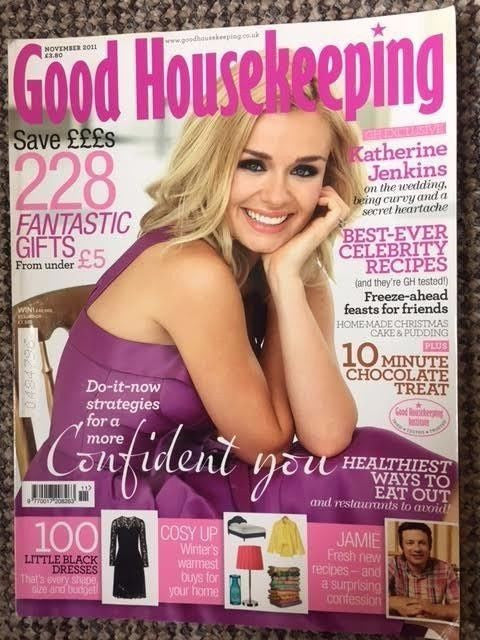 Good Housekeeping Magazine November 2011 Katherine Jenkins Cover Interview