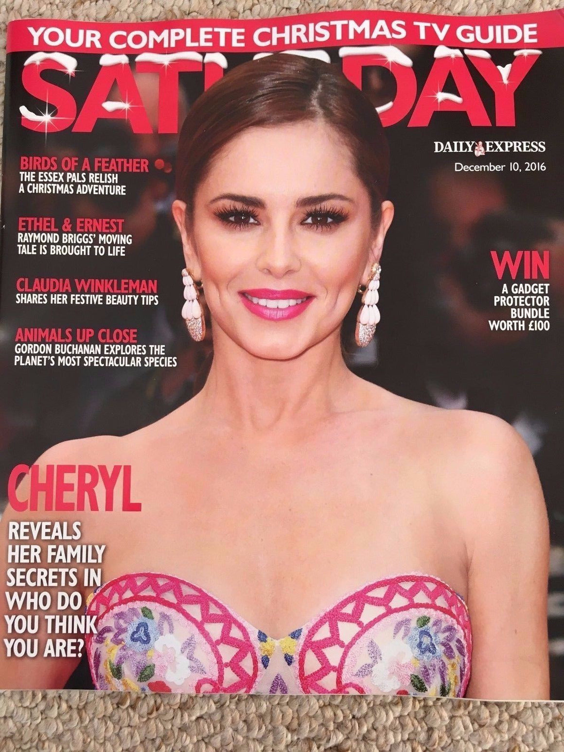 SATURDAY Magazine 12/2016 CHERYL Sarah Lancashire MUD Rob Davis SARAH PARISH