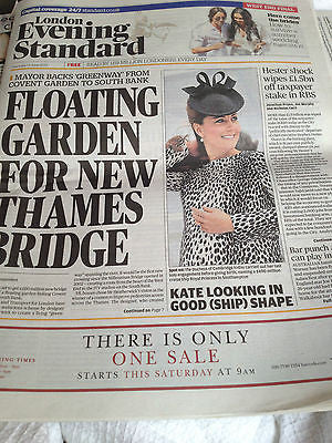 London Evening Standard Newspaper June 13 2013 KATE MIDDLETON on the cover