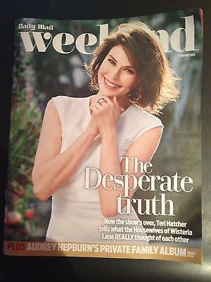 TERI HATCHER interview AUDREY HEPBURN UK 1 DAY ISSUE AUG 2013 RICHARD & ADAM