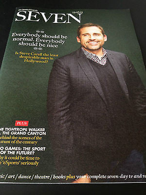 UK SEVEN MAGAZINE JUNE 23 2013 = STEVE CARRELL DANIEL RADCLIFFE