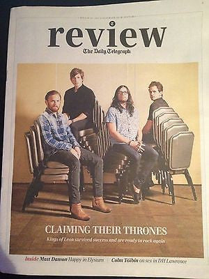 KINGS OF LEON interview RUSSELL TOVEY NEW UK 1 DAY ISSUE DAVID WENHAM TOM HARDY