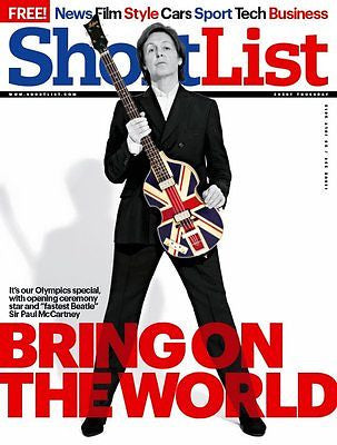 SIR PAUL MCCARTNEY - THE BEATLES - NEW UK COVER SHORTLIST MAGAZINE - JULY 2012