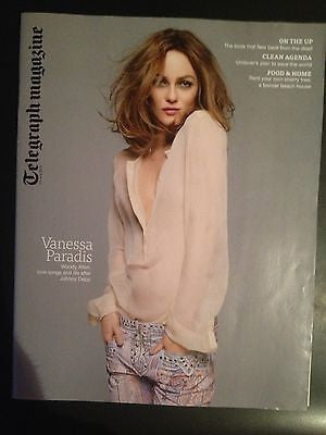Telegraph Magazine - Vanessa Paradis cover July 2013 Johnny Depp Cliff Richard