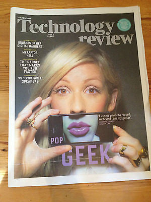 THE TIMES TECHNOLOGY REVIEW MAY 2013 ELLIE GOULDING PHOTO COVER AND INTERVIEW