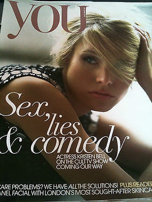 KRISTEN BELL - NEW UK COVER YOU MAGAZINE -  LILY ALDRIDGE