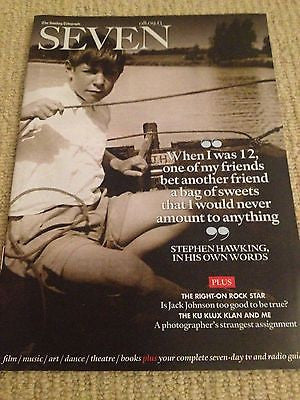 Seven Magazine Sept 2013 Stephen Hawking interview JACK JOHNSON ARCTIC MONKEYS