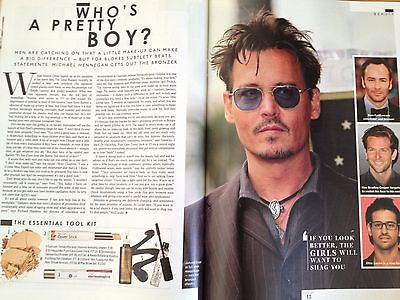NATASCHA MCELHONE interview JOHNNY DEPP UK 1 DAY ISSUE NEW TOM FORD JEREMY SCOTT