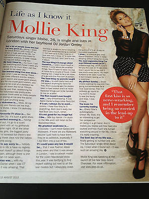 NEW S Magazine Mollie King The Saturdays Chas Hodges Evanna Lynch Harry Potter