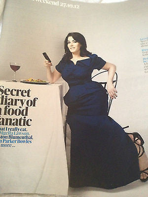 GUARDIAN WEEKEND MAGAZINE NIGELLA LAWSON LISA MARIE PRESLEY ELVIS ANDY KERSHAW
