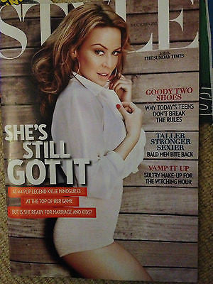 New STYLE Magazine KYLIE MINOGUE Exclusive Claudia Schiffer Abbey Lee