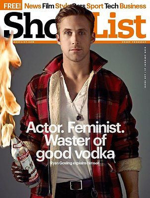 RYAN GOSLING - HOT - NEW UK COVER SHORTLIST MAGAZINE - david bowie Louis CK