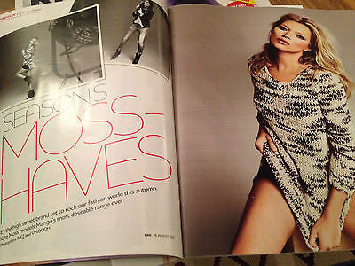 YOU MAGAZINE AUG 26 2012 KATE MOSS 5 PAGE MODELLING RACHAEL STIRLING DIANA RIGG